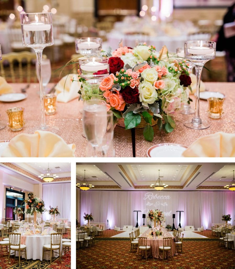 St. Louis Wedding Photographer, St. Charles Convention Center Wedding, Wedding Reception Design