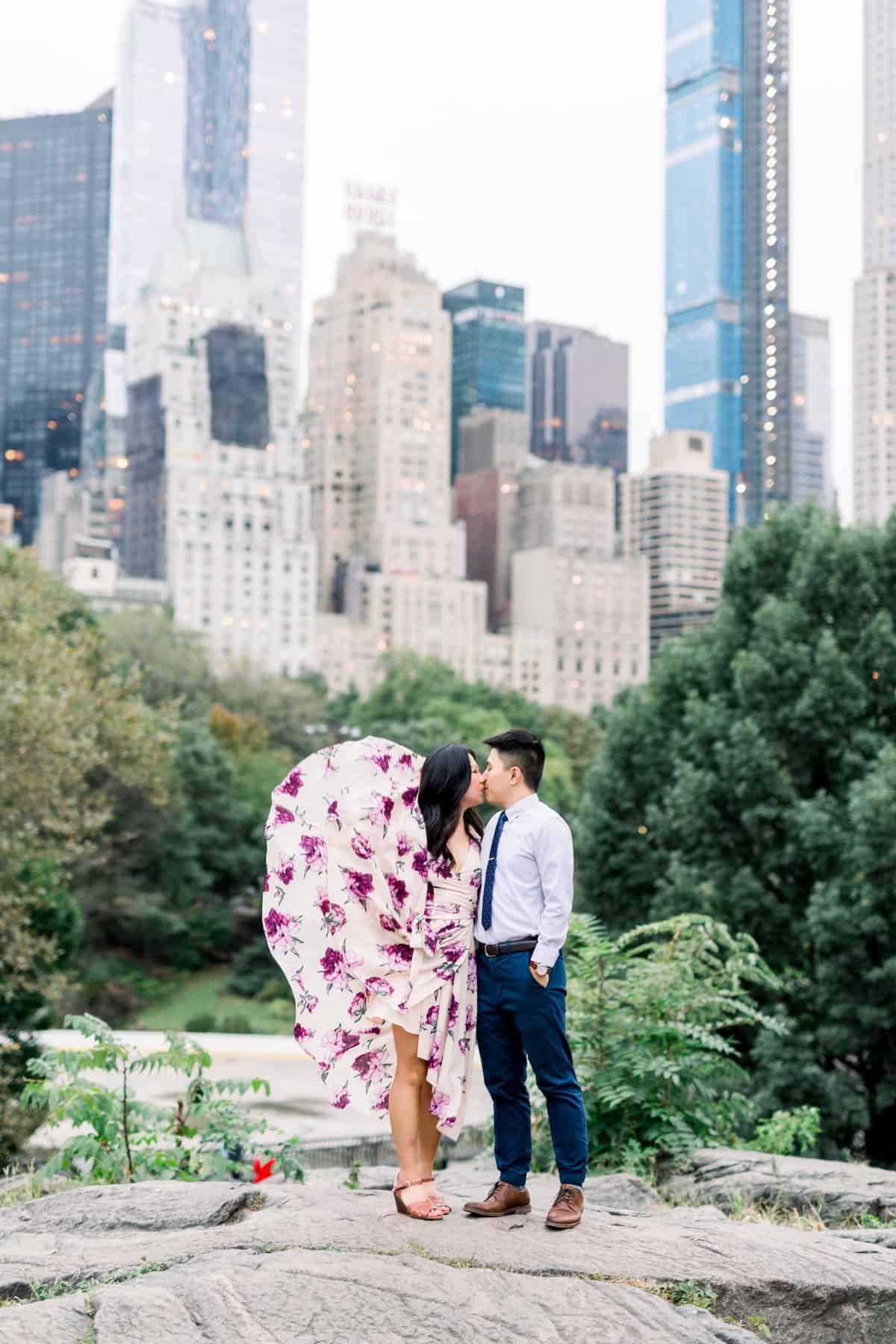New York City Central Park Engagement Session, Umpire Rocks, The Rocks