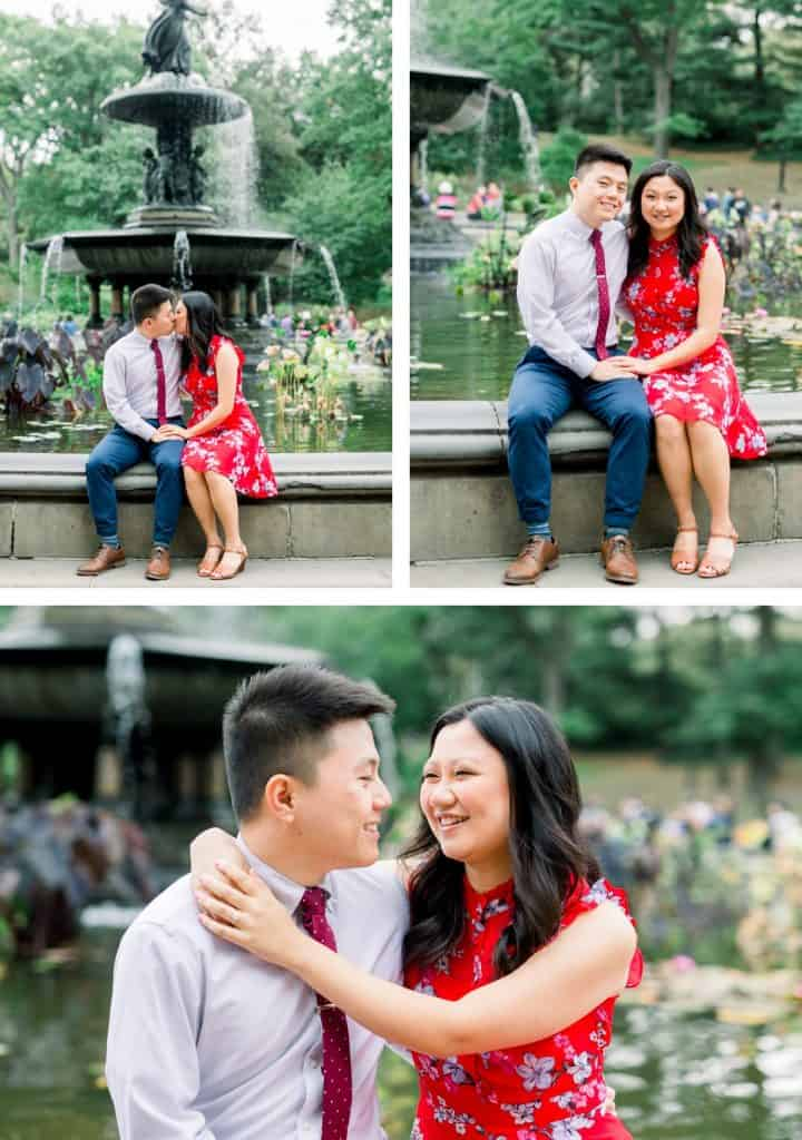 NYC Central Park Engagement Photographer, Bethesda Fountain in Central Park