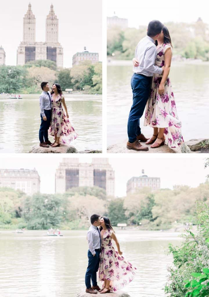 New York City Central Park Engagement Session, The Lake