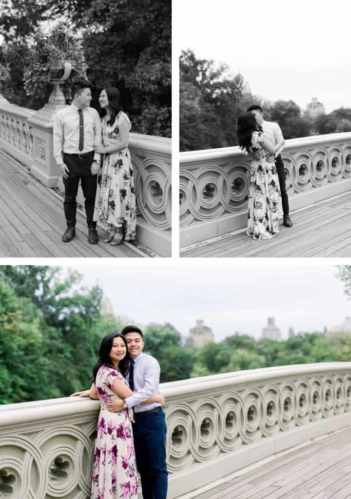 New York City Central Park Engagement Session, Bow Bridge