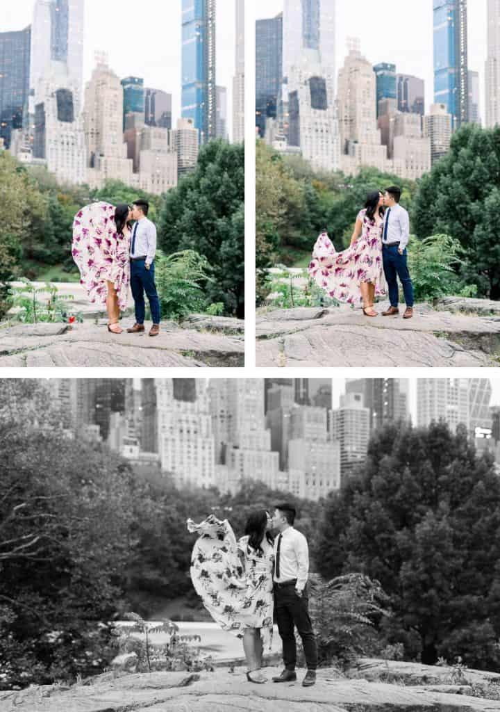 New York City Central Park Engagement Session, Umpire Rock