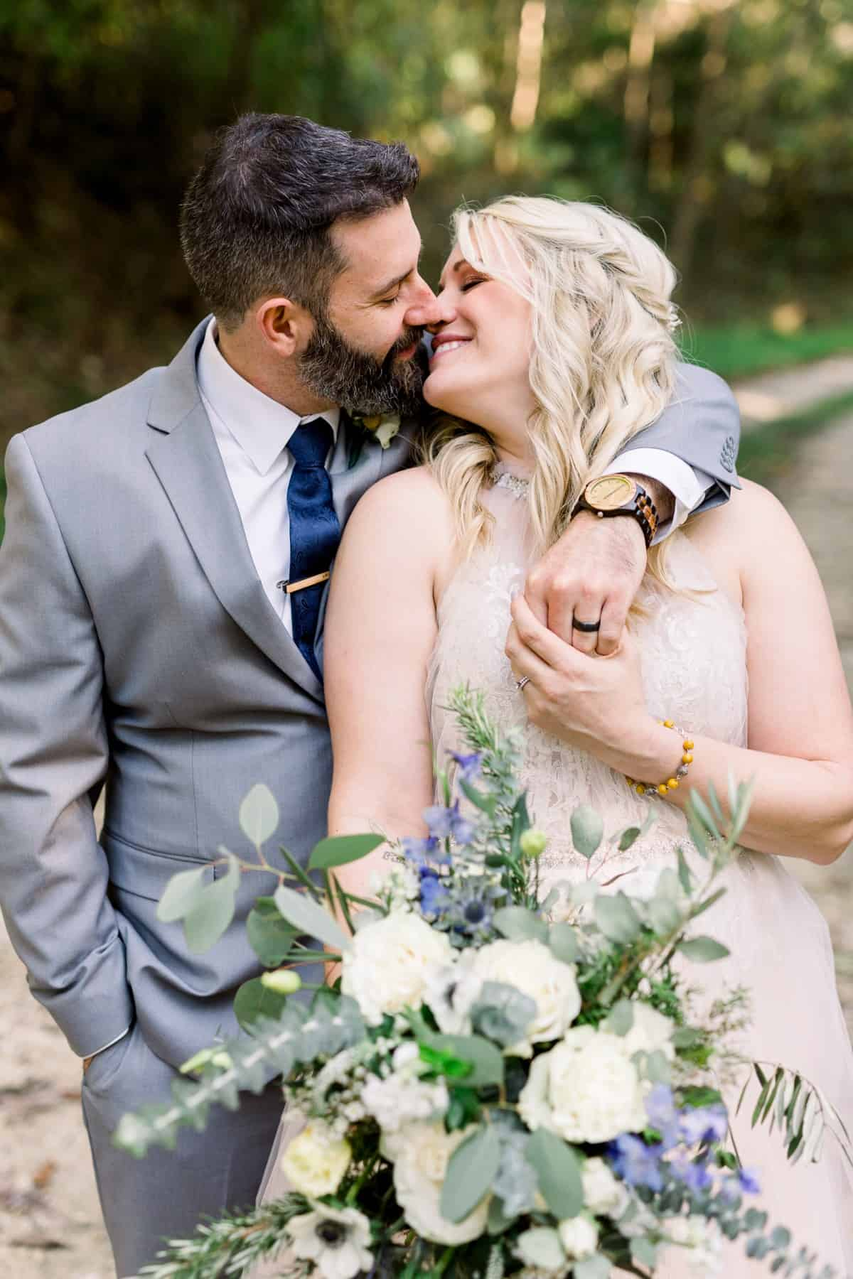 Midwest Wedding Photographer, Bride and Groom Portraits, Illinois Countryside