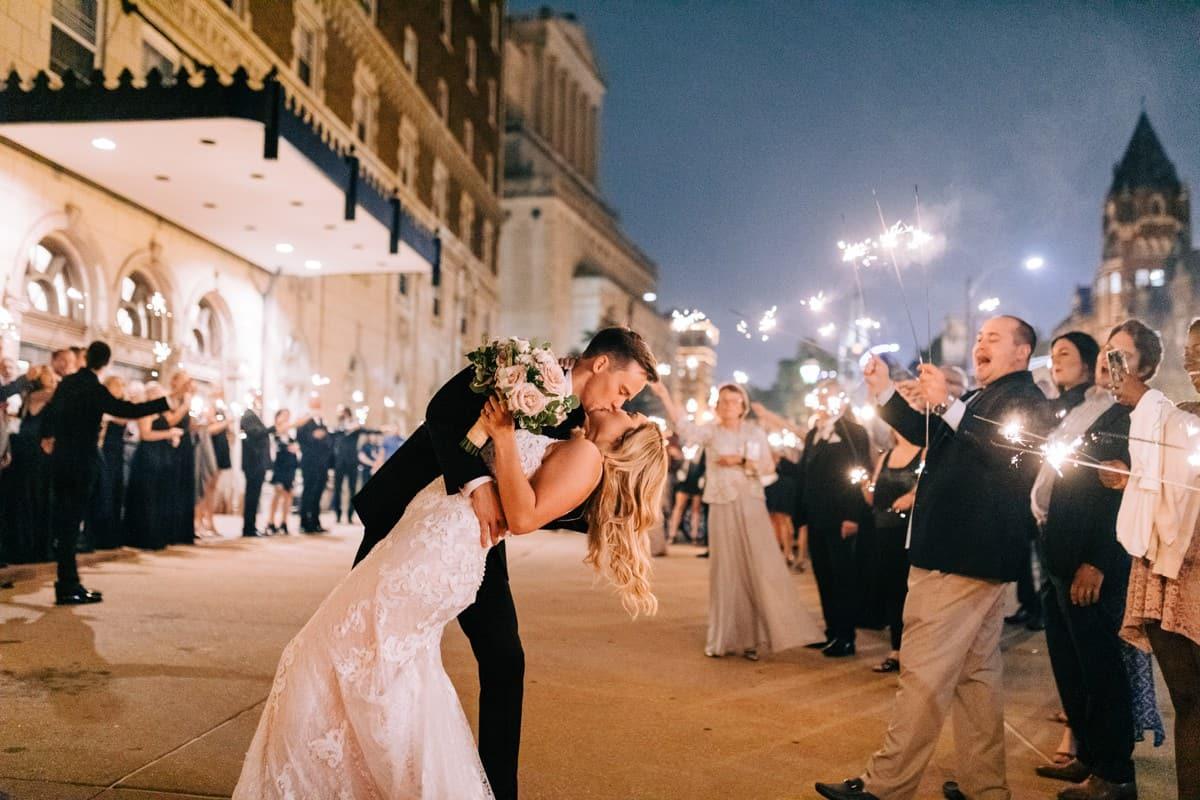 Sparkler Exit, The Coronado Wedding