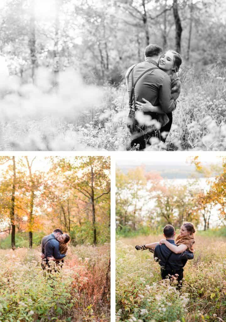 Grafton Illinois Engagement Session, Dark and Moody Engagement Photographer