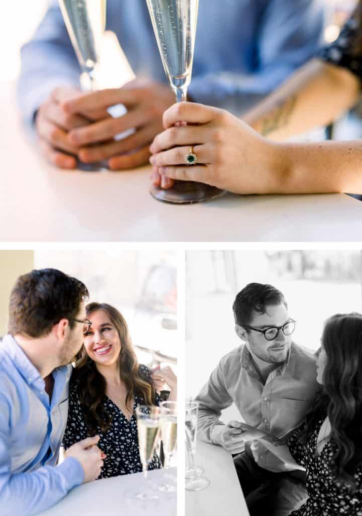 Small Batch Whiskey Bar and Restaurant, Engagement Session in St. Louis, MO