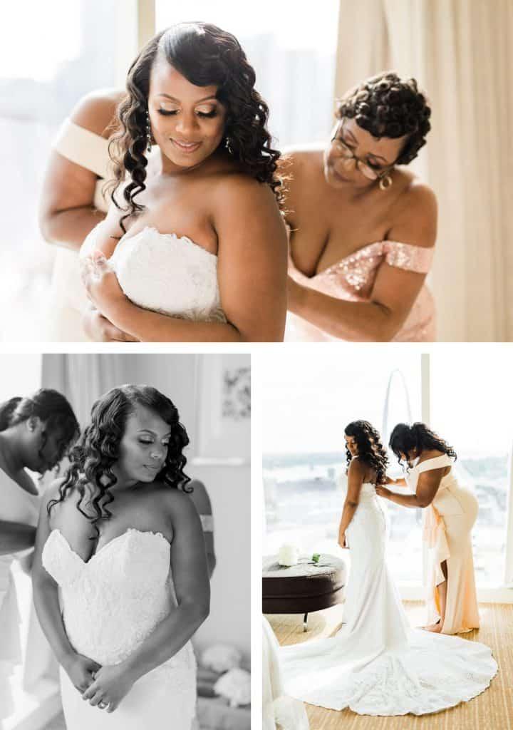 Downtown St. Louis Four Seasons Hotel Wedding, Bride Getting Ready