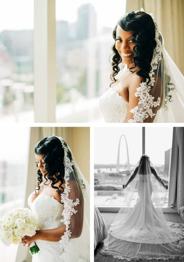 Downtown St. Louis Four Seasons Hotel Wedding, Bridal Portraits