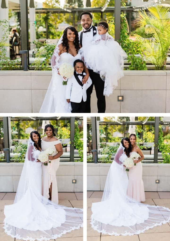 Downtown St. Louis Four Seasons Hotel Wedding, Bride and Groom Photos Portraits, Wedding Party Photos