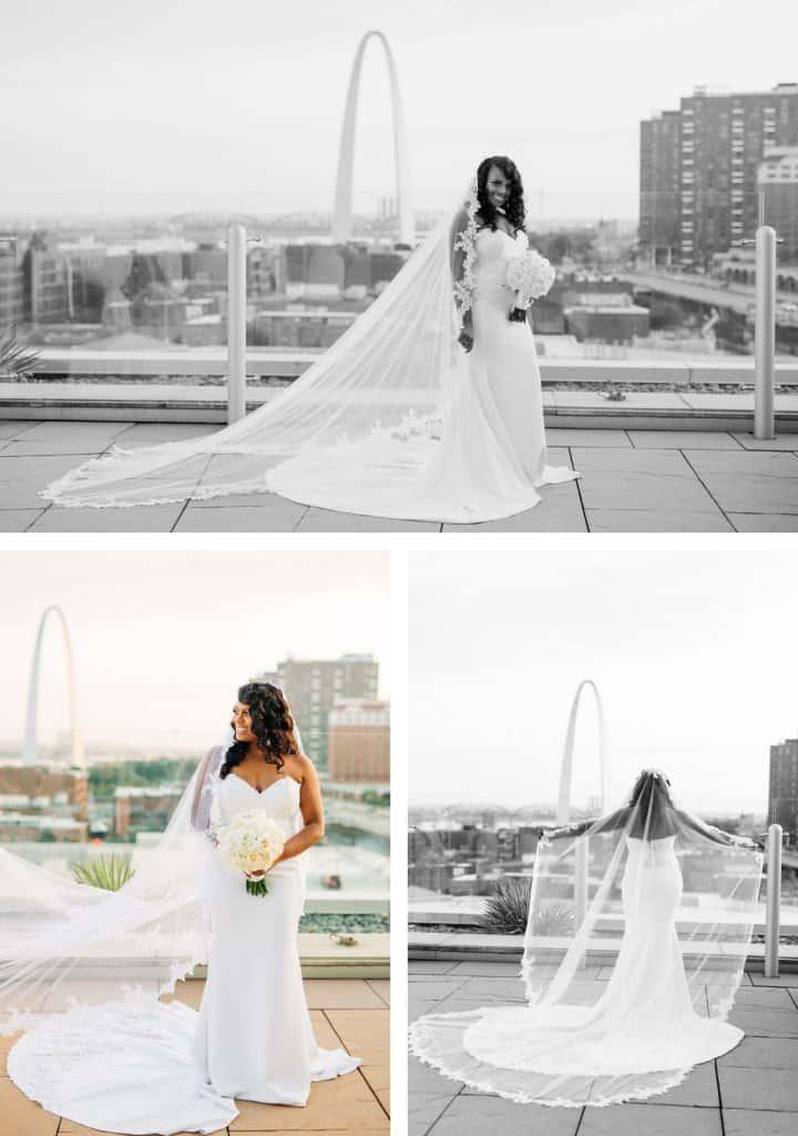 Downtown St. Louis Four Seasons Hotel Wedding, Bride Portraits