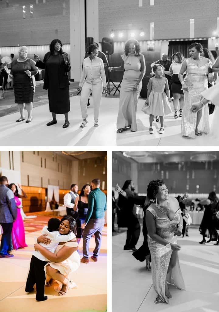Downtown St. Louis Four Seasons Hotel Wedding Reception