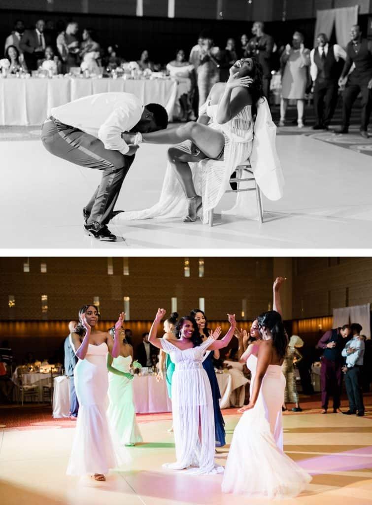 Downtown St. Louis Four Seasons Hotel Wedding, Reception Dancing