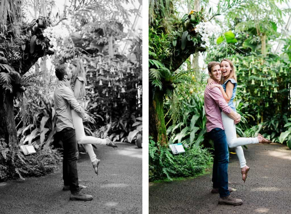 Climatron Greenhouse Geodesic Dome Conservatory, MOBOT Engagement Session