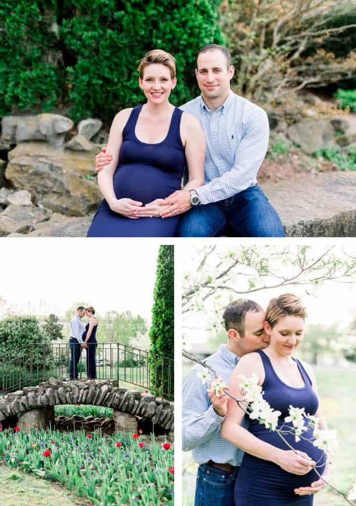 Nashville Maternity Session Outside in Spring