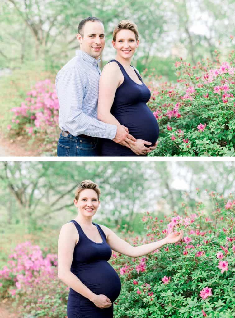 Nashville Maternity Session Outside in Spring